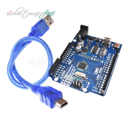 NEW UNO R3 ATmega328P CH340G//FT232 Chip Mini//MICRO USB Board for DIY W//Cable