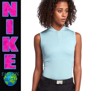 c93843e0a Nike Women s Size XL Sleeveless Dry Blade Golf Polo Ocean Bliss Flat ...