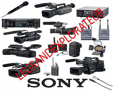 Ultimate Sony DV HD Repair Service Manuals & Schematics (PDFs manual s on  DVD)   eBay