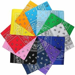 12Pcs-Bandanas-Polyester-Paisley-Double-Sided-Print-Head-Wrap-Scarf-Wristband