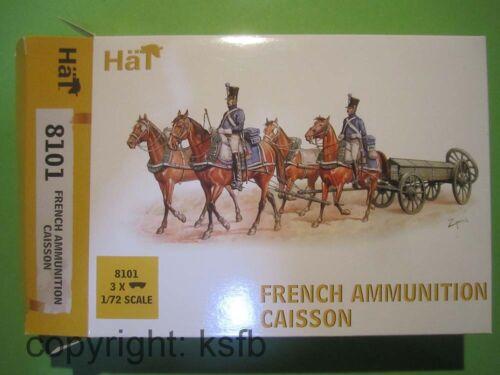 1:72 HäT 8101 Napoleon Frankreich 4 spännige Munitions Kutsche Wagen Reiter