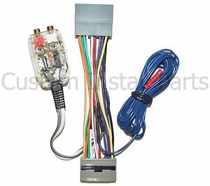 factory radio add amplifier amp interface adapter wiring wire harness converter ebay