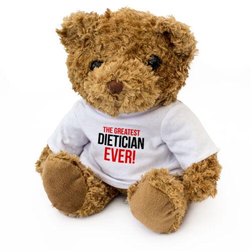 NEW Teddy Bear Gift Present Award GREATEST DIETICIAN EVER Cute Cuddly
