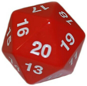 Red Koplow Games GAMING SUPPLY BRAND NEW ABUGames Opaque d20 55mm Die