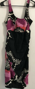 30-Suzi-Chin-Maggi-Boutique-14-MIDI-Dress-Floral-Black-White-Pink-Sleeveless