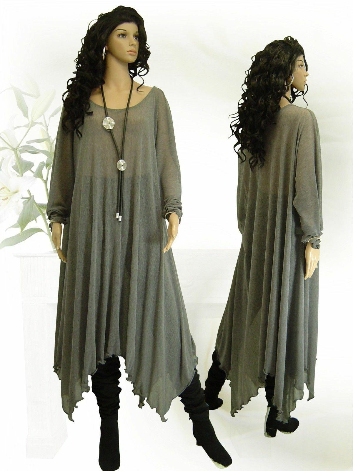 Designer Mode Unterkleid Mash transparent, grau, Gr. 58, wie neu