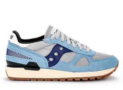 super popular c4b26 de679 Saucony Man Shadow Original Shoes Sneakers Suede Canvas Pump Blue | eBay