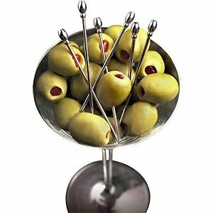 Prodyne-Stainless-Steel-Classic-Olive-Martini-Picks-Set-of-6-Cocktail-Party