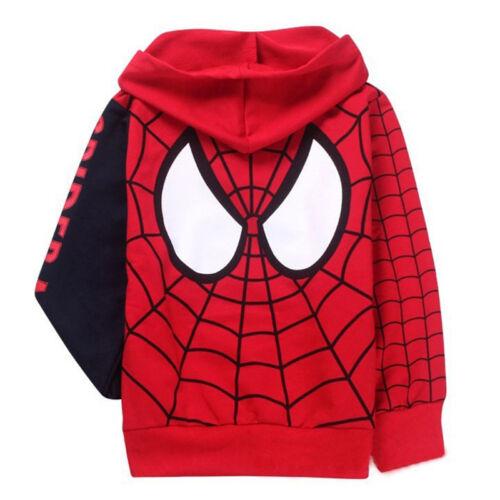 Kids Marvel Superhero Hoodies Sweatshirt Jumper Boys Coats Shirt Jacket Outfits