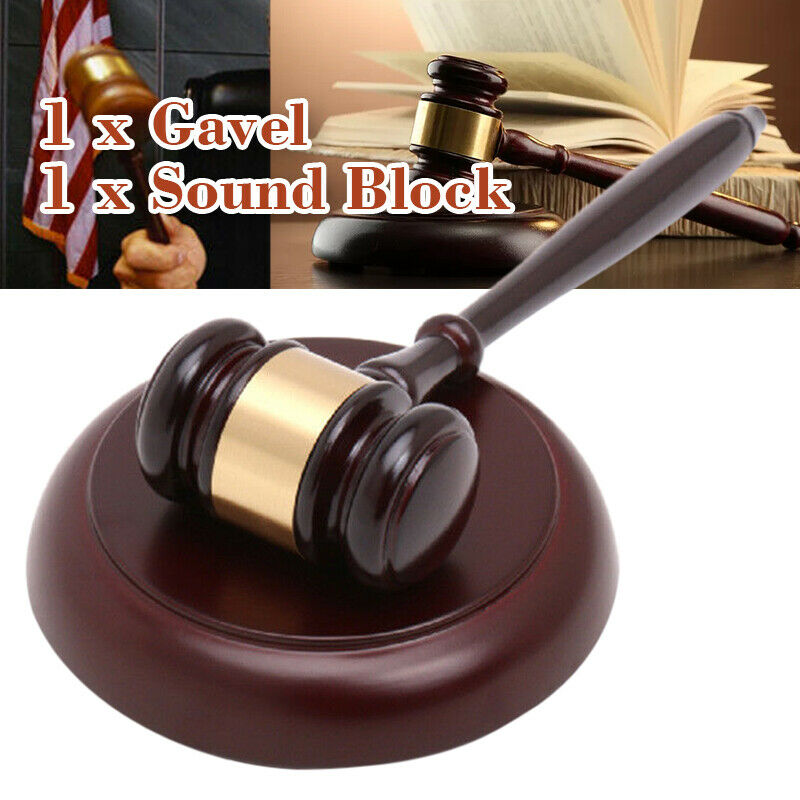GAVEL DIRECTOR/'S SET WITH BLOCK WALNUT JUDGE//LAWYER GIFT ~~FREE ENGRAVING~~