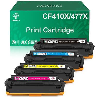 5PK Toner Cartridge CF410X 413X For HP 477X LaserJet Pro M452dw M477fnw M477fdn