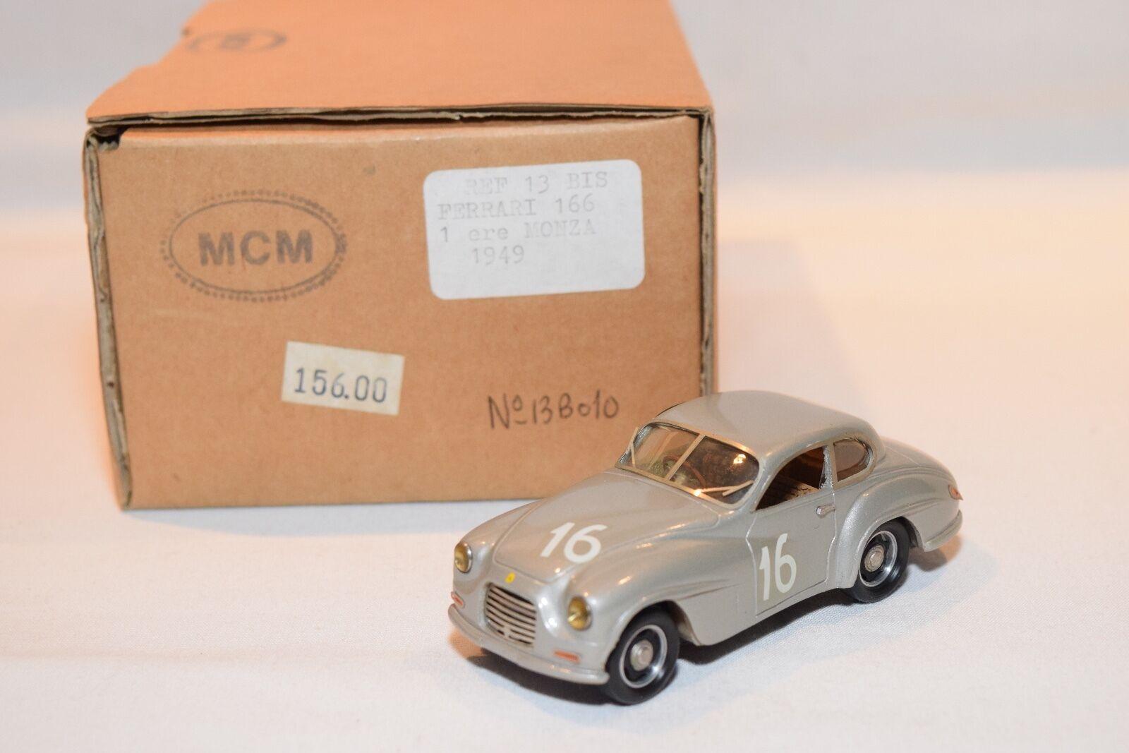 Mcm - 13 bis 13bis kit hand bauen ferrari 166 monza 1949 grauen nm boxed selten