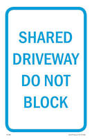Shared Driveway Parking Sign, 12w X 18h, Pvc Full Color