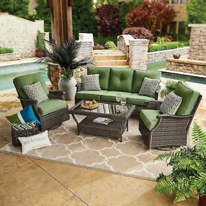 Charmant Details About Patio Cushion Deep Seating Sets (5 Green Sets) With 2 Accent  Pillows By GeoBella