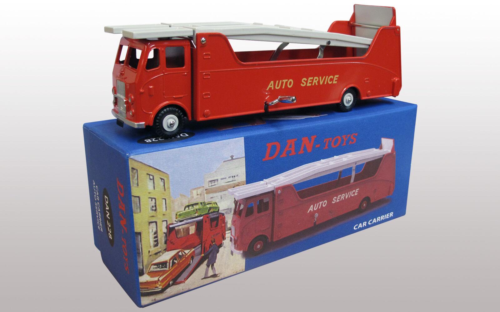 DAN TOYS CAR CARRIER AUTO TRANSPORTERS  Rouge  Ref DAN 228
