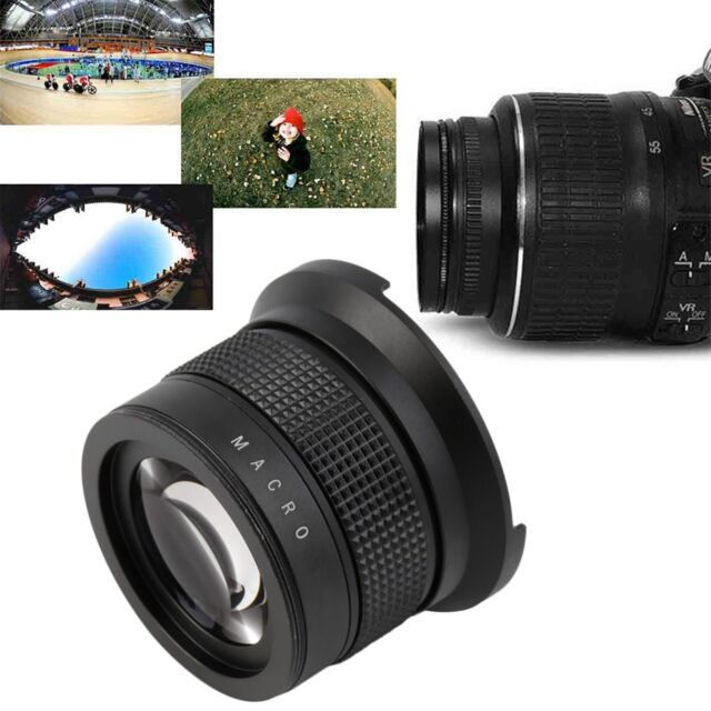 0.35X58MM Camera Super HD Wide Angle Fisheye Lens With Macro for Canon EOS OK