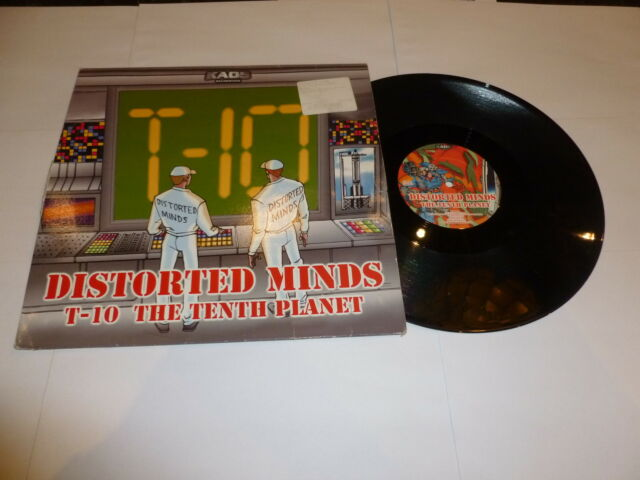 """DISTORTED MINDS - T-10 / The Tenth Planet - 2003 UK 2-track vinyl 12"""" Single"""
