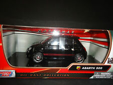 Motormax Fiat Abarth 500 Black 1/24