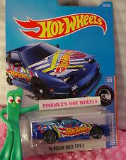 '96 NISSAN 180SX TYPE X #225✰blue;gray pr5✰RACE TEAM✰2017 US Hot Wheels case K/L