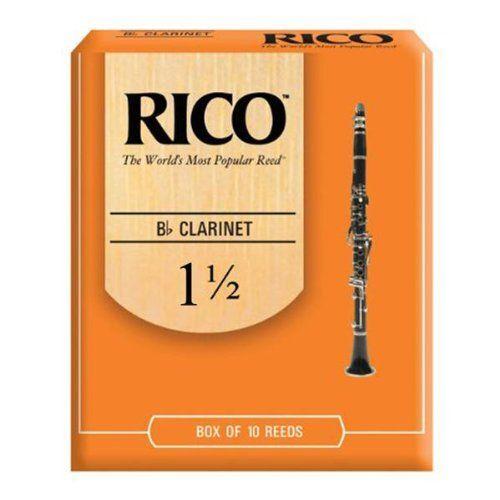 Rico RCA1015 Bb 1.5 Clarinet Reeds 10 Pack