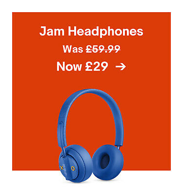 Jam Headphones. Was £59.99. Now £29.