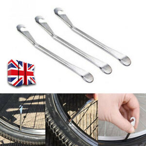 UK 3xSteel Tyre Levers Bicycle Cycling Road Bike Tire Changing Repair Tools Kit