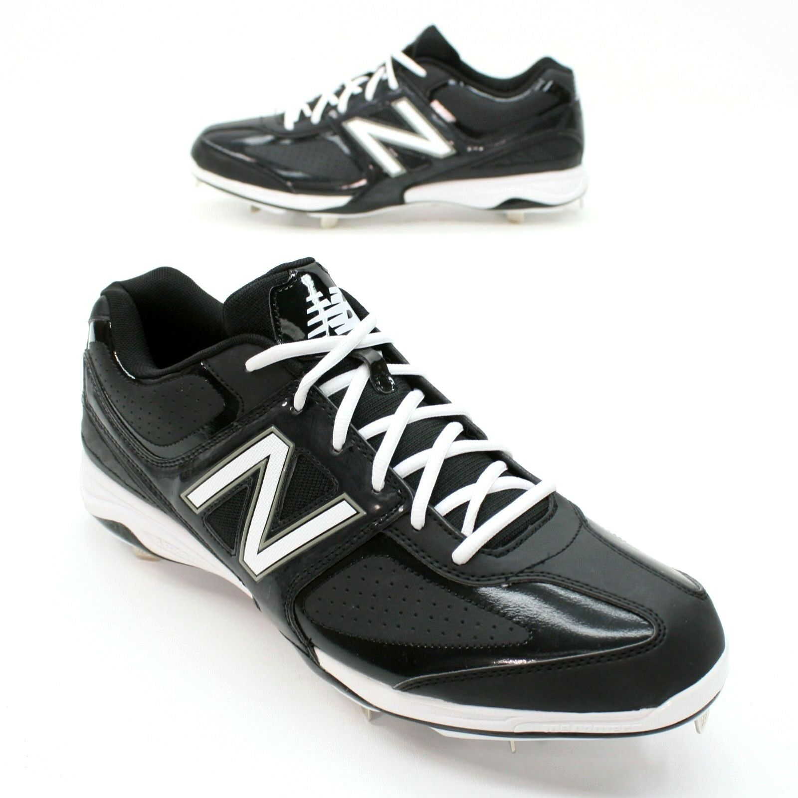 sale retailer 99f5b c4040 New Balance Men s Men s Men s 16 Black White Lo Baseball Softball Metal  Cleats Shoes Mint