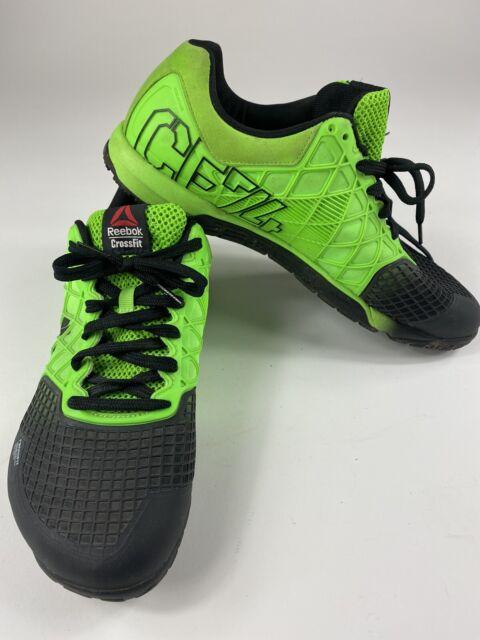 Reebok CrossFit Mens Sz 11 Nano Cross Training Shoes Green CF74 Fitness Gym