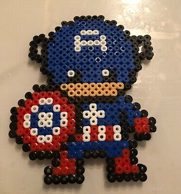 Captain America Hama Bead Coaster Marvel Superhero Character Ebay
