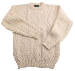 Aran laine Pull douce Pull Over et 100 femme Pull Cream épaisse unisexe n8aIIZ