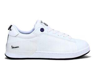 Scarpe-da-uomo-Vespa-V00005-casual-estive-sportive-basse-sneakers-pelle-bianco