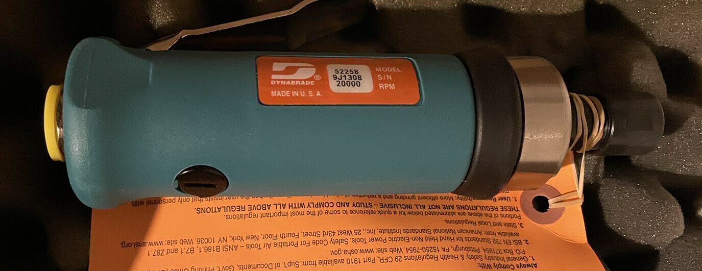 DYNABRADE 52258 Air Die Grinder,Straight,20,000 rpm. Buy it now for 375.00