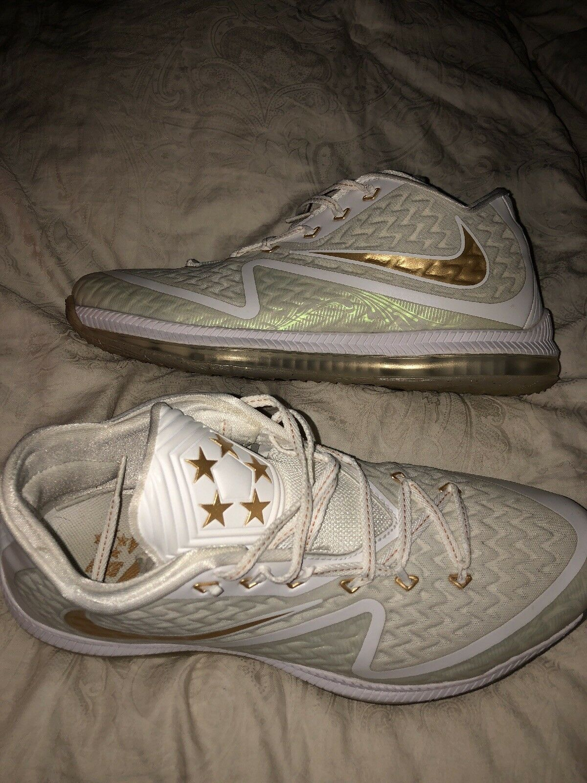 Nike sneaker field general 2 size 11.5 Us 45.5 eu white gold authentic
