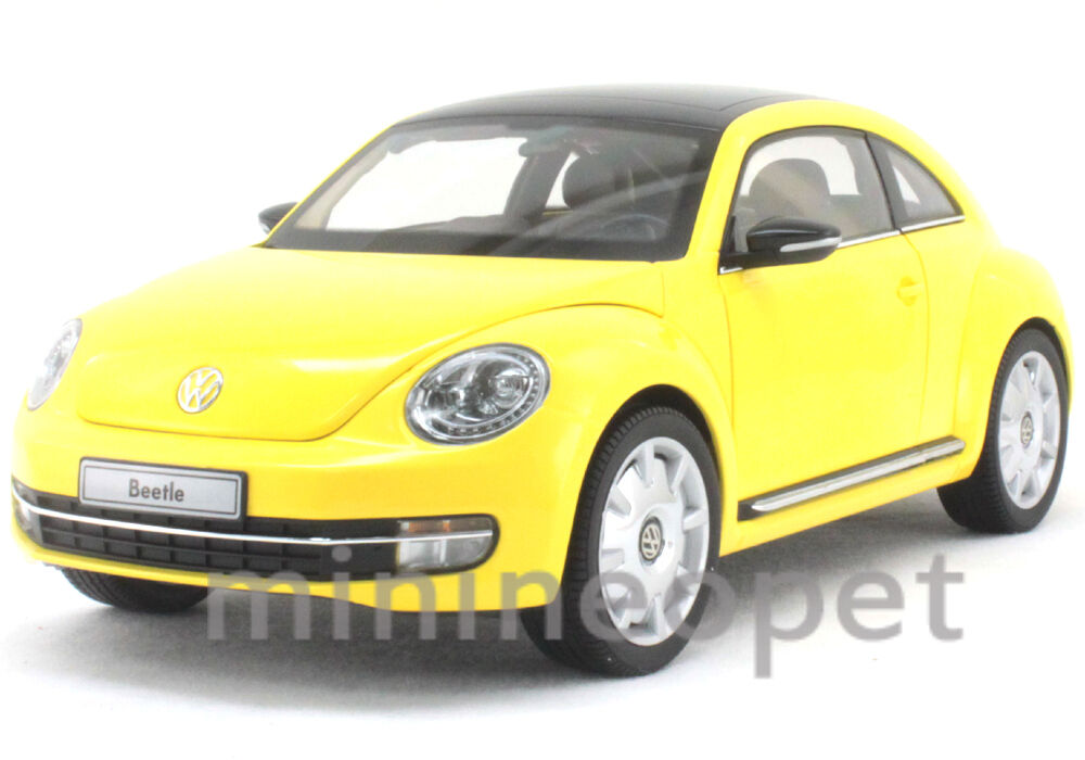 KYOSHO 08811SY 2012 VW VOLKSWAGEN THE BEETLE COUPE 1/18 SUN FLOW giallo