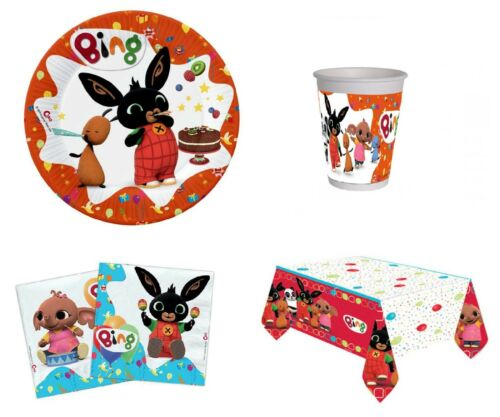 Coordinate Table Dishes Glasses Napkins Theme Bing Flop Sula Bunny