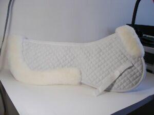 Brand-New-genuine-sheepskin-saddle-pad-with-Rolled-Edges