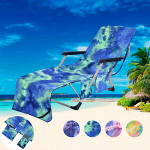 Bon Details About Chair Beach Towel Beach Chair Cover Chaise Lounge Towel Cover  For Pool Sun Loung