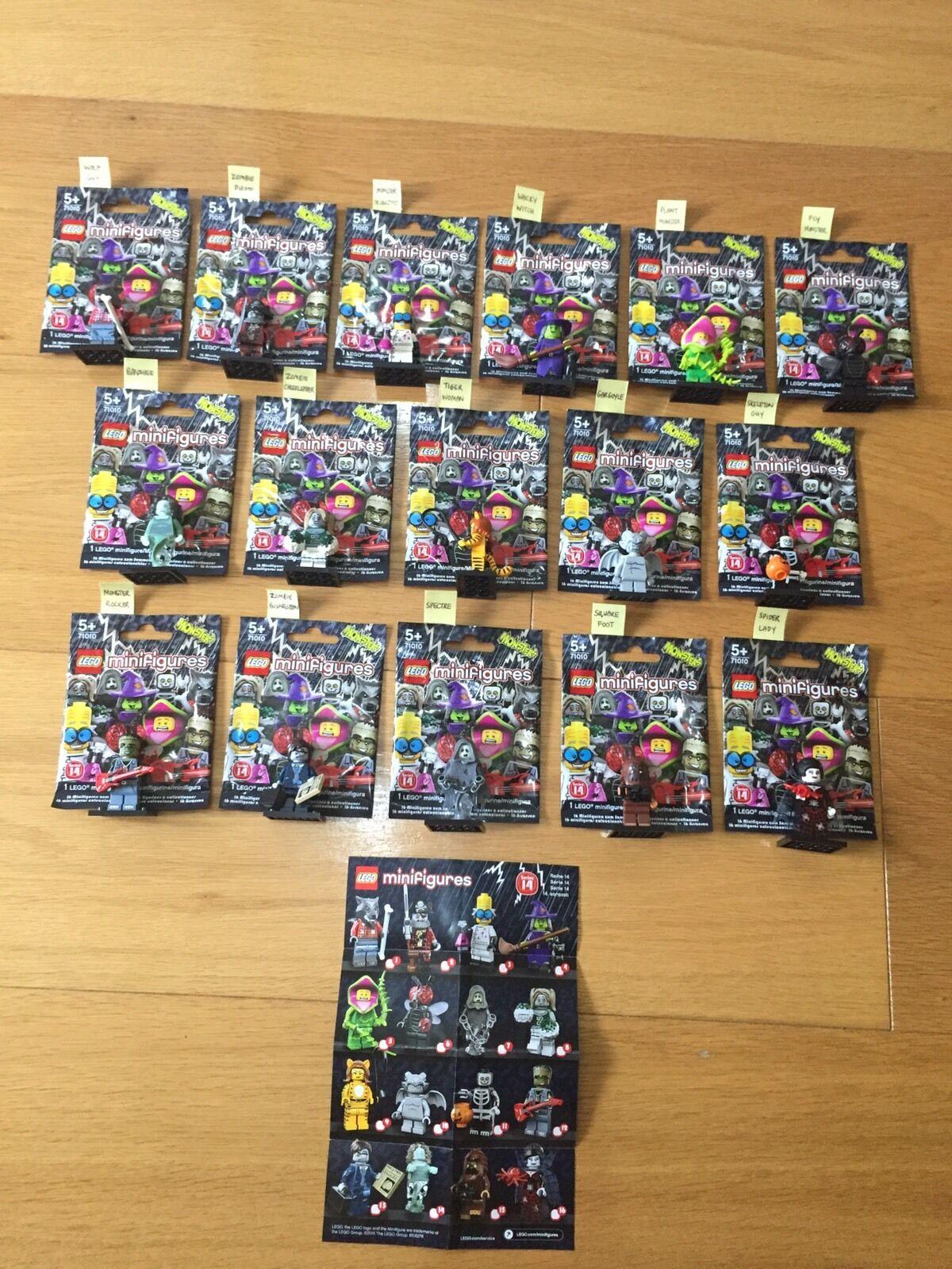 NUOVO   MOSTRI LEGO MINIcifraS SERIE 71010 SERIE COMPLETA RARA  autentico