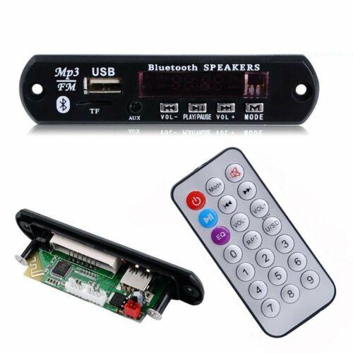 12V Bluetooth MP3 Anto Decoder Player Modul USB TF AUX FM Radio Fernbedienung