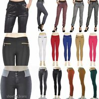 NEW Color Stretch  Track Pants Trousers Soft Leggings Pencil Skinny Jeggings