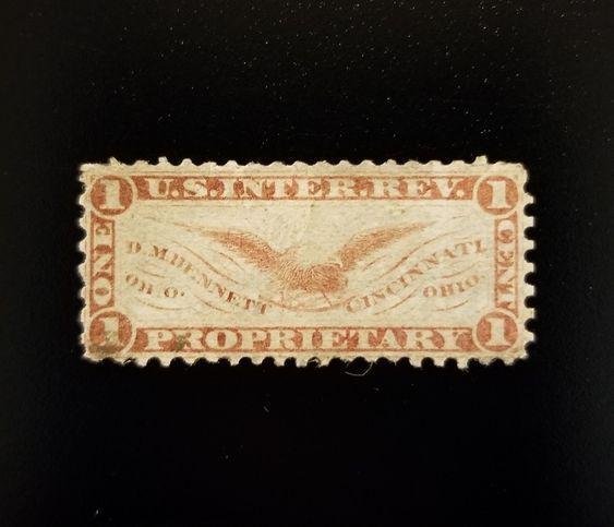 D.M. Bennett 1c U.S. Internal Revenue RS30a Private Die
