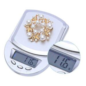 Digital Pocket Kitchen Scale Household Scales Accurate L2E5 Scales AD Y8F0