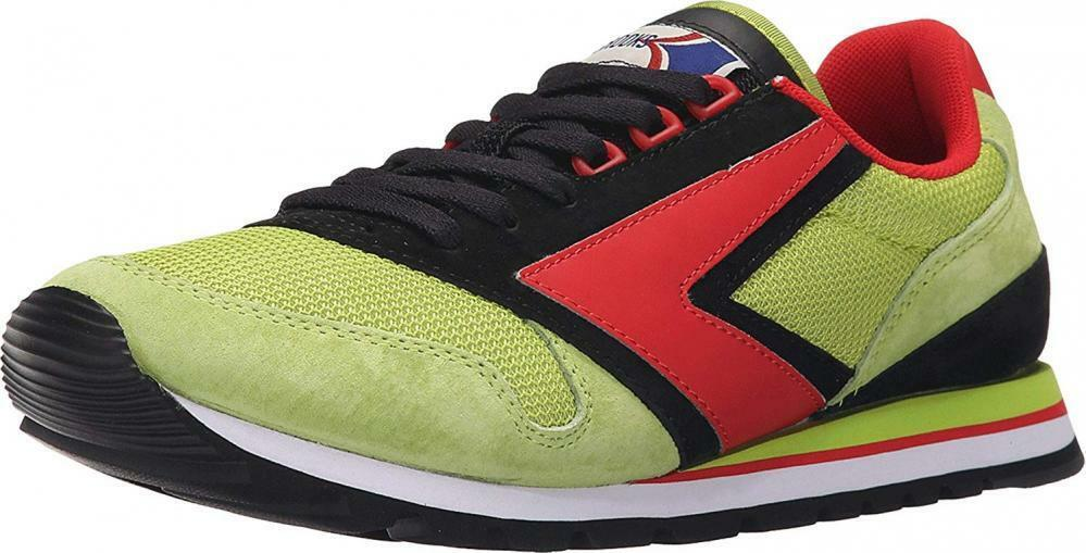 Brooks Heritage Mens Chariot Lime Green Black High Risk Red Sneaker 7 D (M)