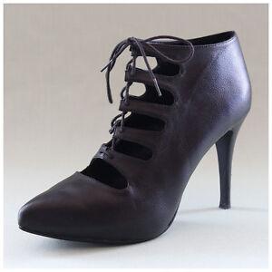 H&M Pumps Gr. 41 Plateau High Heels schwarz Schnürpumps Ankle Boots (#1298)