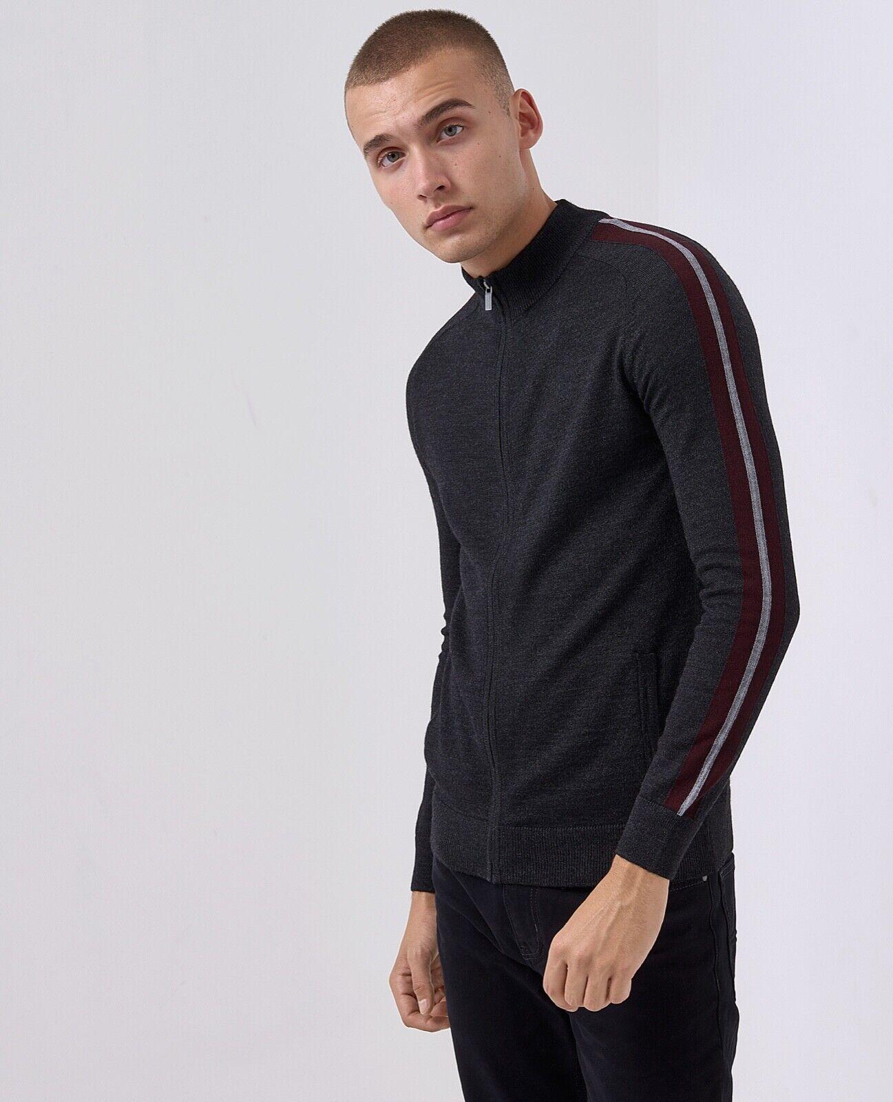 REMUS men® Wool Blend Zip Sweater Grey - XXL WAS .00