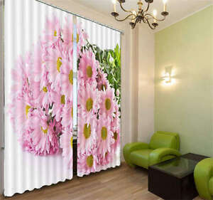 Pink-And-Brilliant-Flower-3D-Curtain-Blockout-Photo-Print-Curtains-Fabric-Window