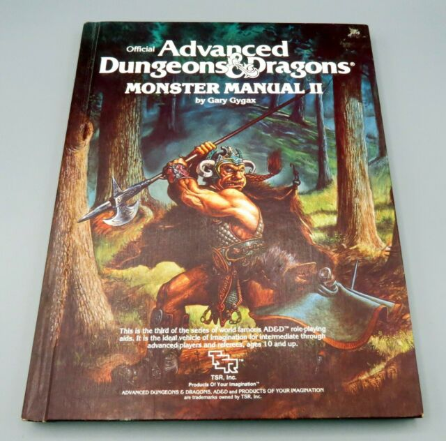Ad U0026d Advanced Dungeons And Dragons Monster Manual Ii 2 Tsr Manual Guide