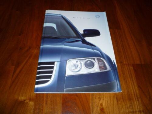 VW PASSAT PROSPEKT 09//2000