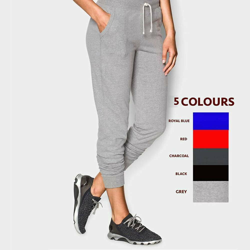 NY Deluxe Edition Women Ladies Ankle Cuff Ribbed Jogging Bottom in Fleece Slim Fit Women Sports Gym Joggers UK Size S to XL