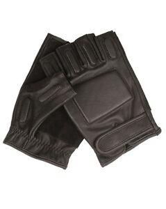 Genossenschaft Mil-tec Security Handschuhe Ohne Finger Fingerhandschuhe Lederhandschuhe S-xxl